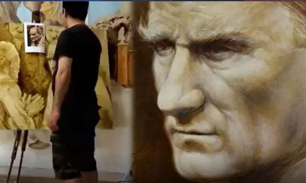 Ekrem İmamoğlu'nun makamına astığı 'Atatürk tablosunun' ressamı ilk kez konuştu