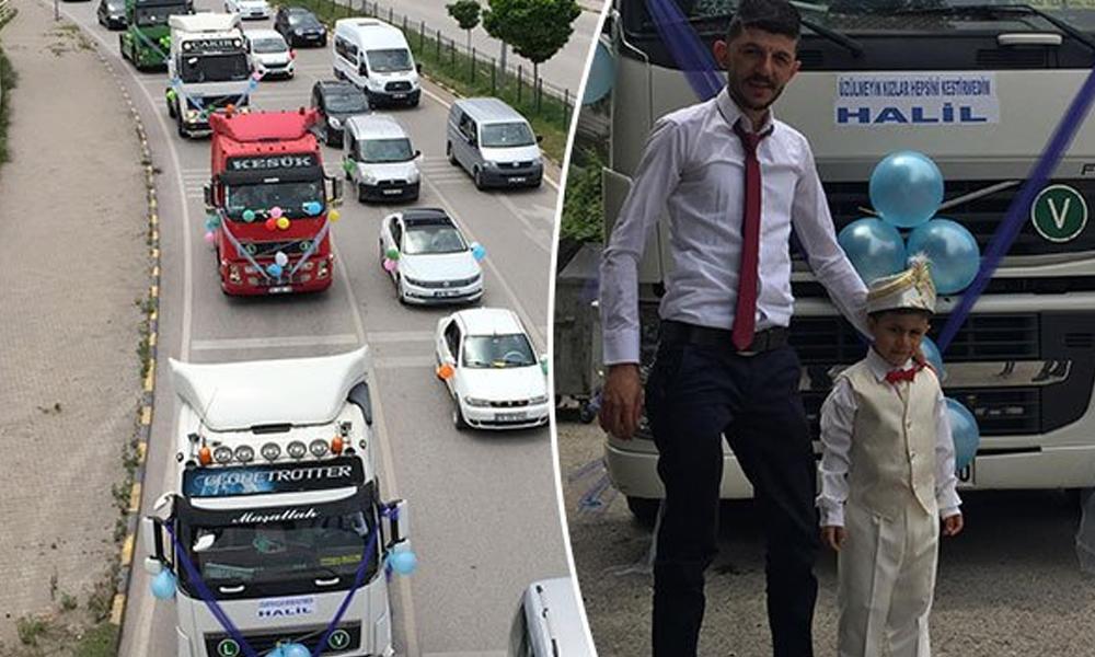 TIR'lı sünnet konvoyunda ceza alan baba: 'Biz zaten düğünlere devamlı TIR'larla gidiyoruz'