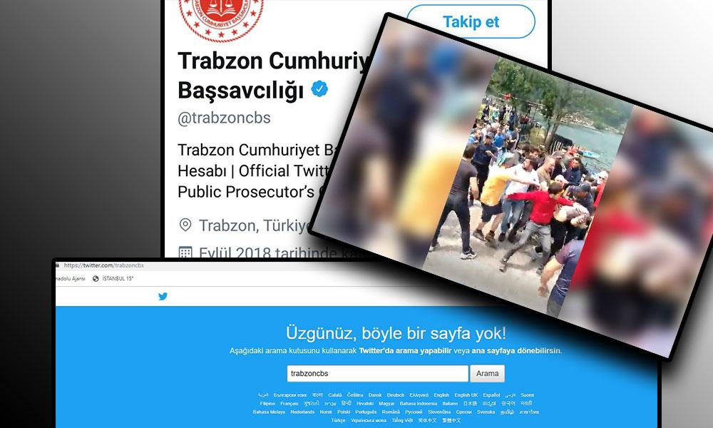 Linç edenlere dokunmayıp Iraklıları sınır dışı eden Trabzon Cumhuriyet Başsavcılığı o tweet sonrası mavi onaylı hesabını kapattı