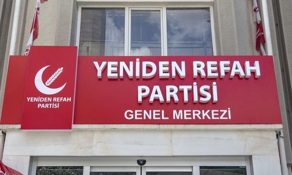 Yeniden Refah Partisi, Saadet Partisi tarafından boşaltılan binaya tabelasını astı