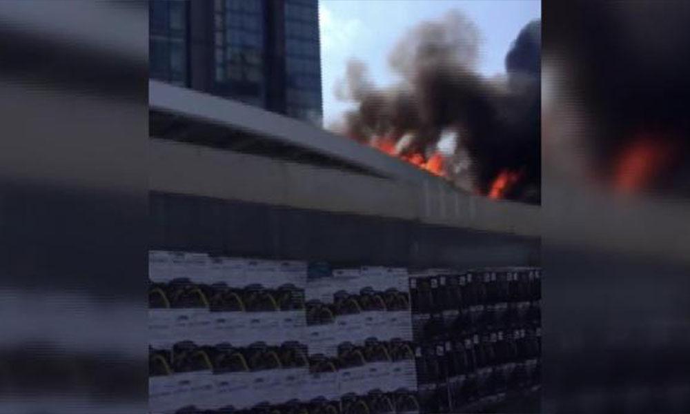 Zincirlikuyu'da plazada yangın! Çok sayıda ekip olay yerine sevk edildi
