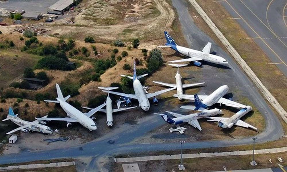 Sahipleri bırakıp gitti! İstanbul'da uçak mezarlığı