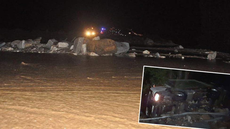 Sivas'ta HES kanalında patlama! Araçlar suya kapıldı, yaralılar var