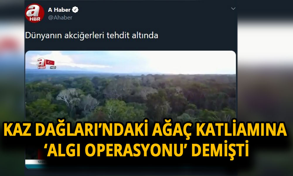 Yandaş AHaber'den tepki çeken doğa haberi!