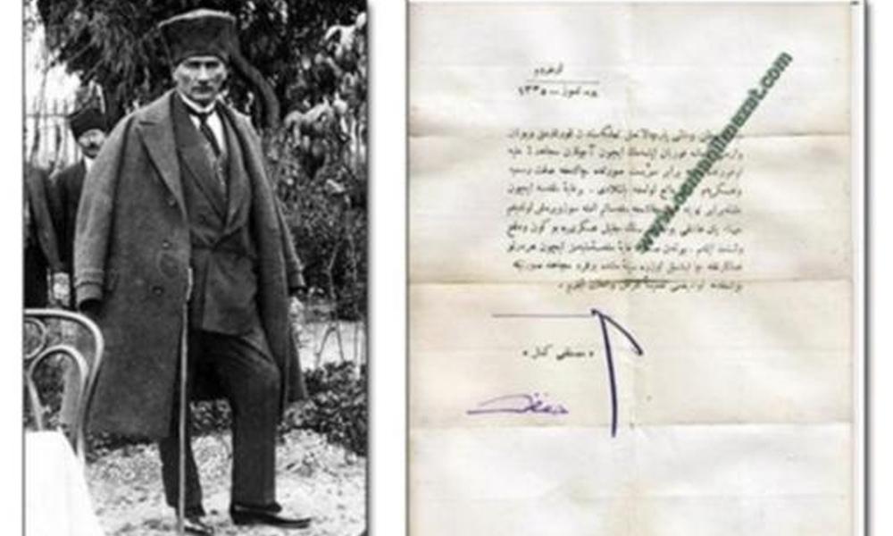 Mustafa Kemal'in istifası açık artırmayla satışa çıkarıldı