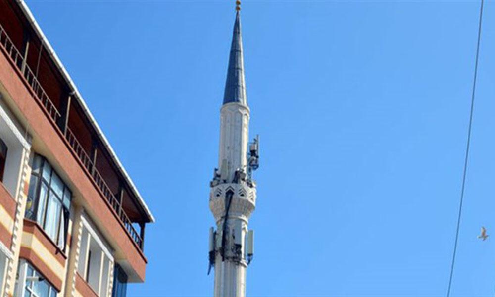 Cami minaresi baz istasyonu yapıldı