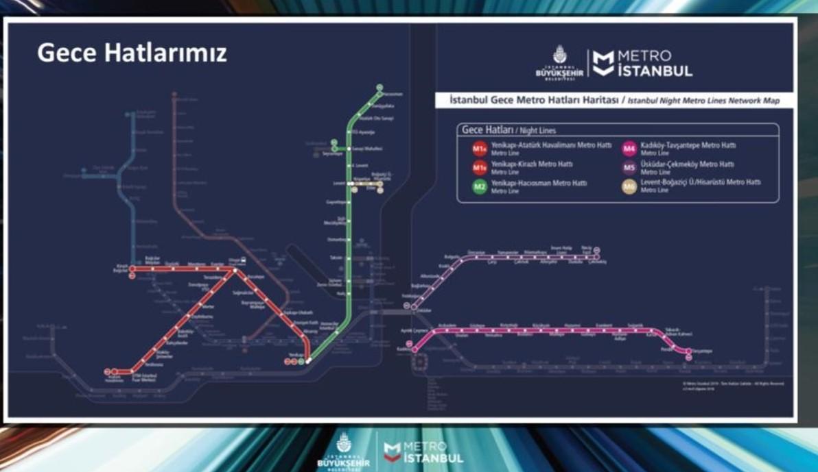 İşte İstanbul'da gece ulaşım hatlarının detayları…