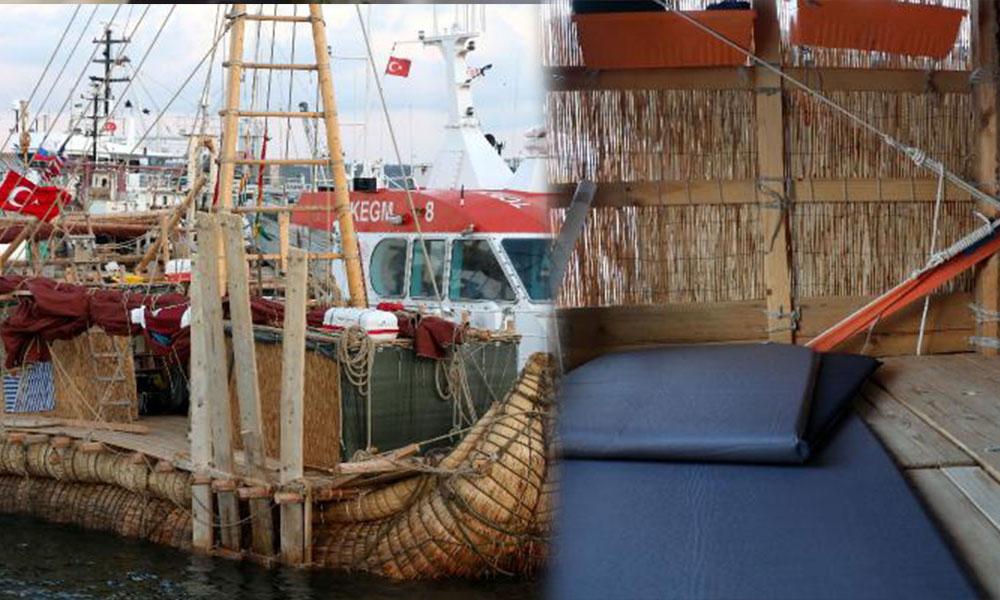 '4 bin yıllık' kamış gemi İstanbul Boğazı'nda
