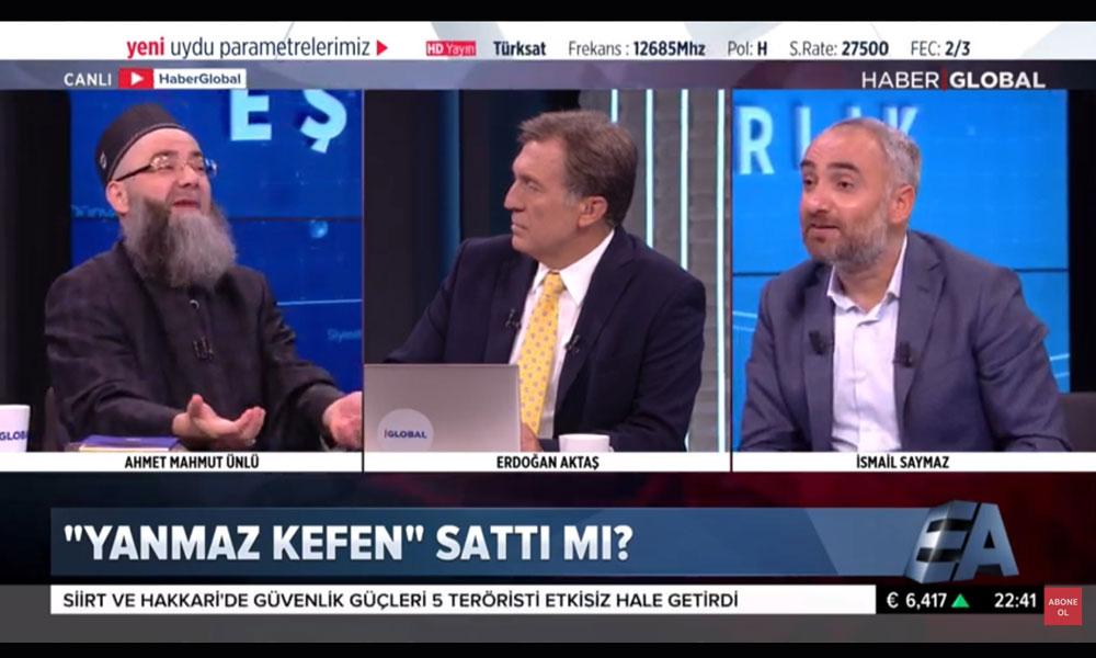 Cübbeli Hoca ile İsmail Saymaz arasında 'tarikat' tartışması: Şekerim fırladı bana müsaade!