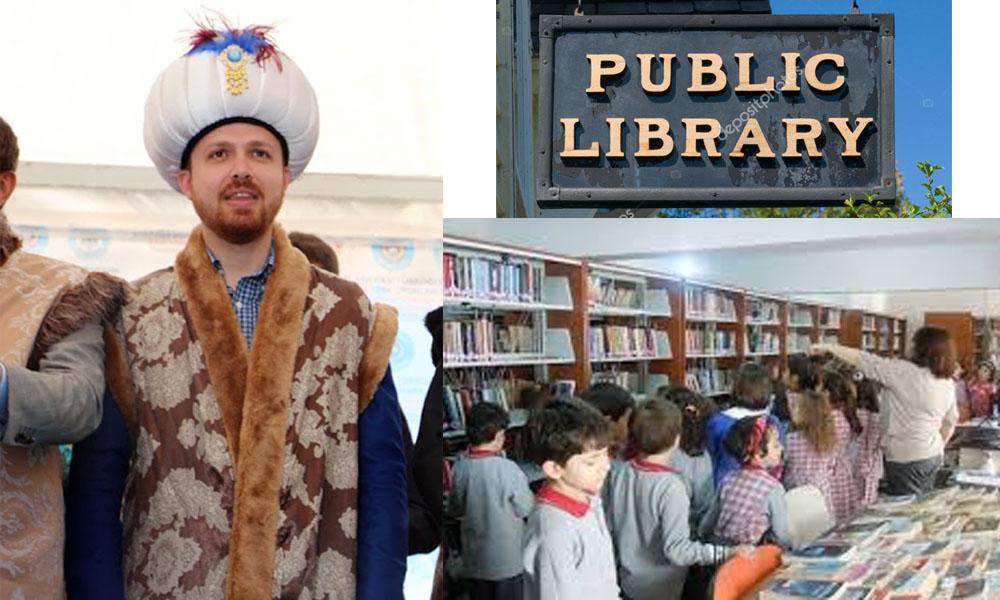 Halk kütüphanesi de TÜGVA'ya verildi! Açılışını Bilal Erdoğan yaptı