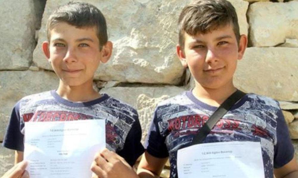 Çobanlık yapan ikizler fen lisesini kazandı