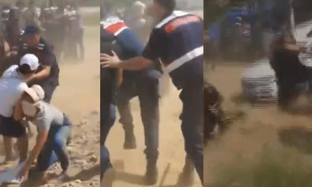 JES eylemine saldıran jandarma eri: 'Şapkalı bir sürü video, fotoğraf çekti telefonu kıralım'