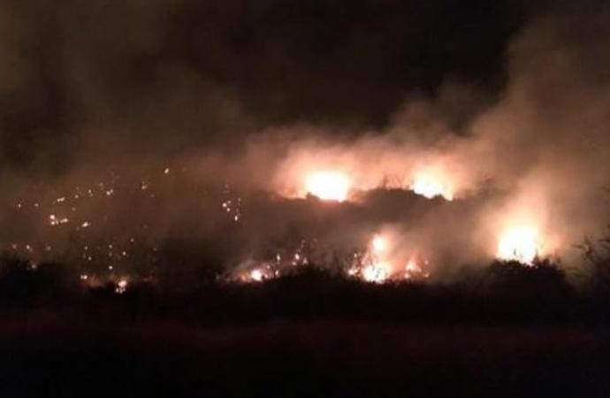Kumluca'da orman yangını!