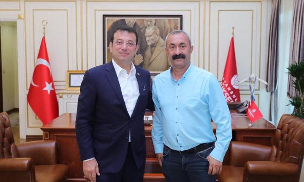 Komünist Başkan'dan Ekrem İmamoğlu'na ziyaret: 'Burayı kendimize ait bir yer olarak gördük'