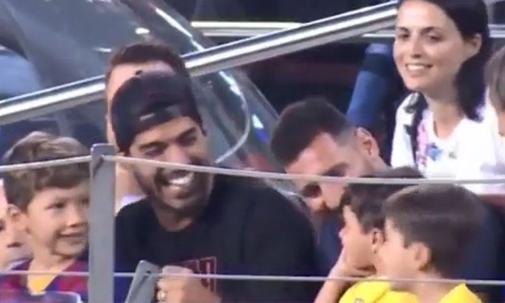 Lionel Messi'nin oğlu Leo, rakip takımın golüne sevindi…