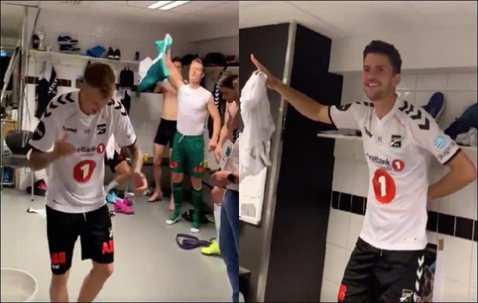 Norveçli futbolculardan Kürtçe şarkıyla galibiyet kutlaması