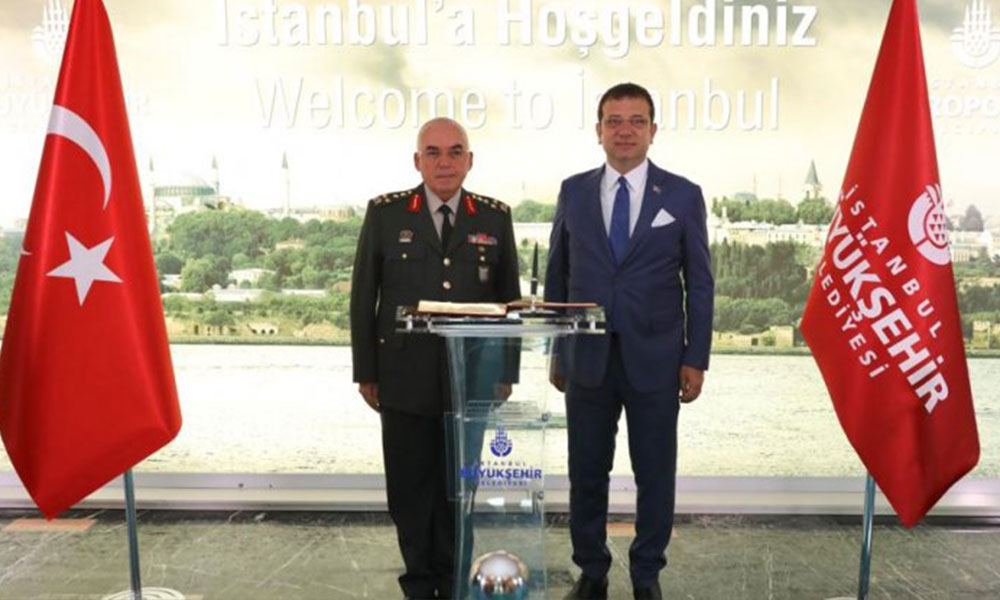 1. Ordu Komutanı'ndan Ekrem İmamoğlu'na ziyaret