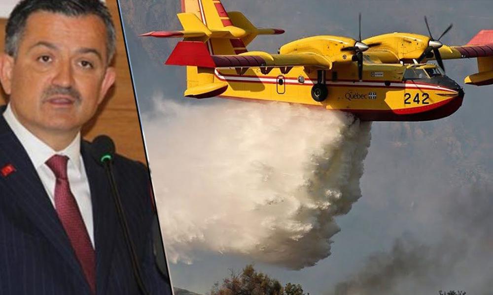 Bakan Pakdemirli'nin 'uçmuyor' dediği uçaklar gösteri yaptı