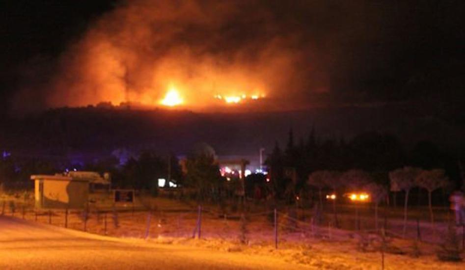 Hatay'da mühimmat deposunda patlama! Bölgedeki evler tahliye edildi