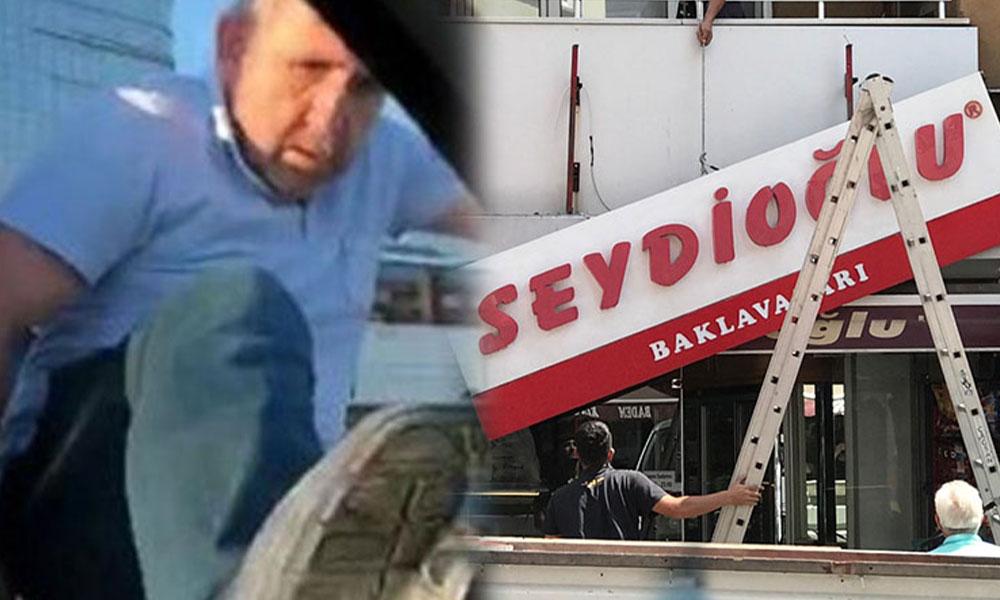 Hamile kadının aracına saldıran baklavacı magandaların 'Seydioğlu' tabelaları söküldü