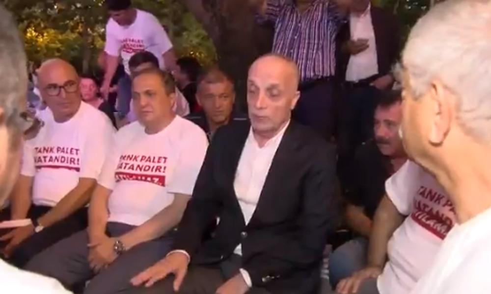 Tank Palet eylemine katılan Türk-İş Başkanı Atalay'a vatandaştan tepki: Sen hiç konuşma…