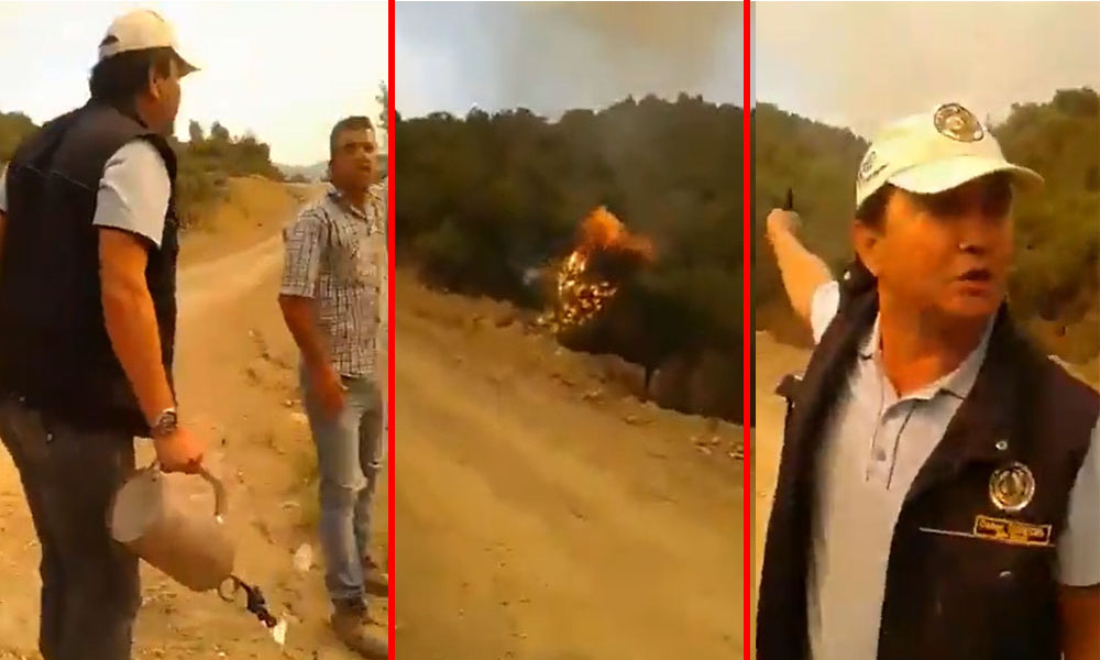 Ağaçları kasıtlı olarak yaktığı iddia edilen Orman Bakanlığı görevlisi konuştu!