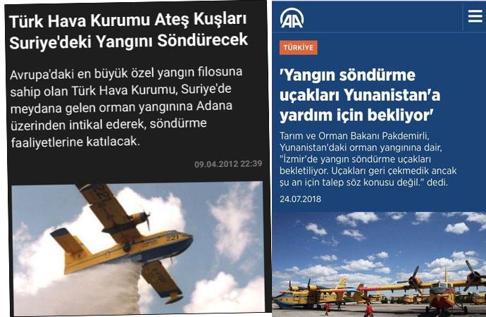 Yangın uçağı Yunanistan'a var İzmir'e yok