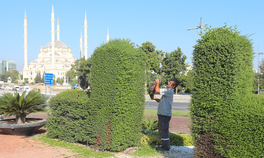 Büyükşehir çalışıyor… Adana'nın kavşaklarına renk geldi!