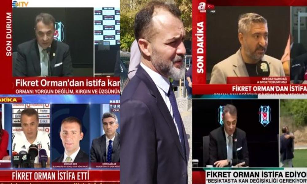 Kumpas mağdurunu görmezden gelen TV'ler Fikret Orman'ın istifasını konuştu