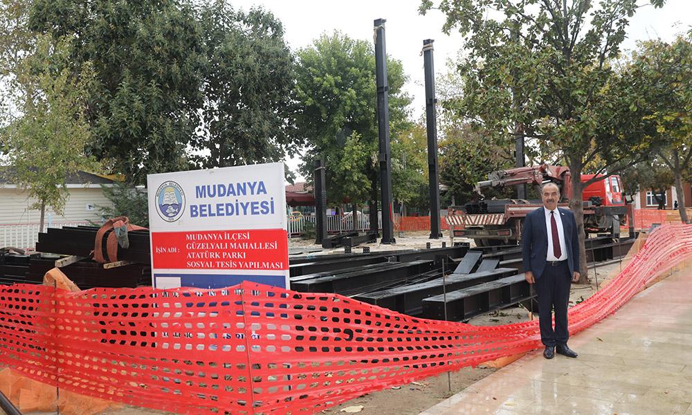Atatürk Parkı'nın 2. Etap çalışmaları başladı