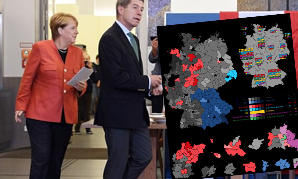 Almanya Merkel'in koalisyonuna darbe! Seçimlerde aşırı sağ yükselişte