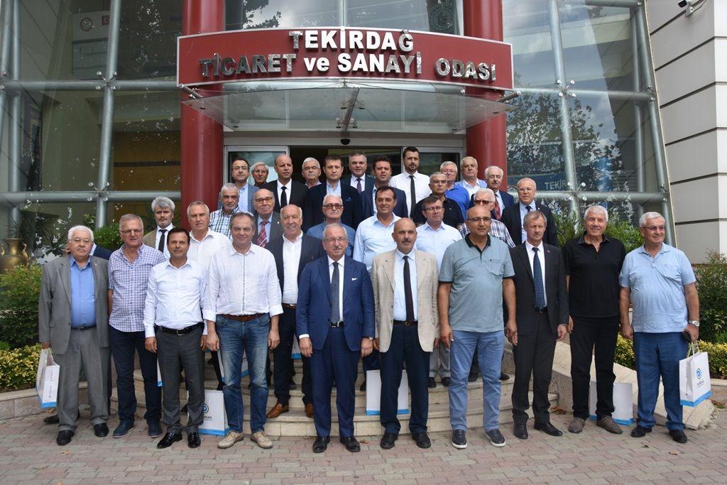 Yeni ve eski Belediye Başkanları Tekirdağ'a hizmet için el ele verdi