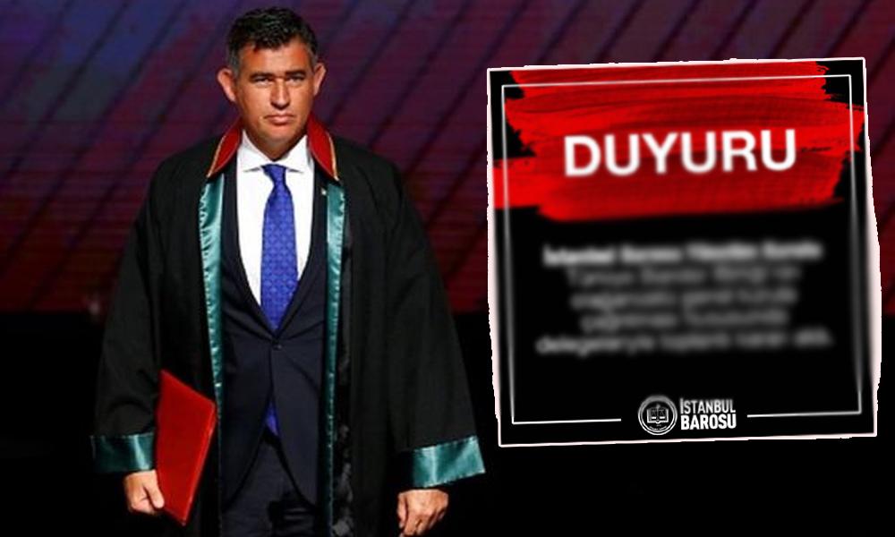 İstanbul Barosu, Feyzioğlu'na karşı harekete geçti!