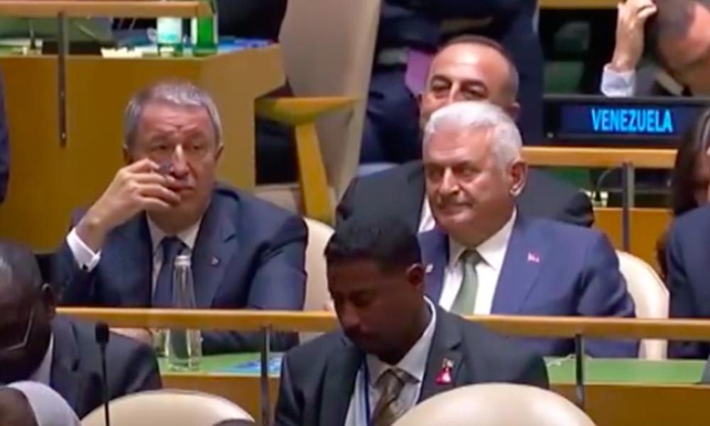 BM Genel Kurulu'nda dikkat çeken Binali Yıldırım karesi