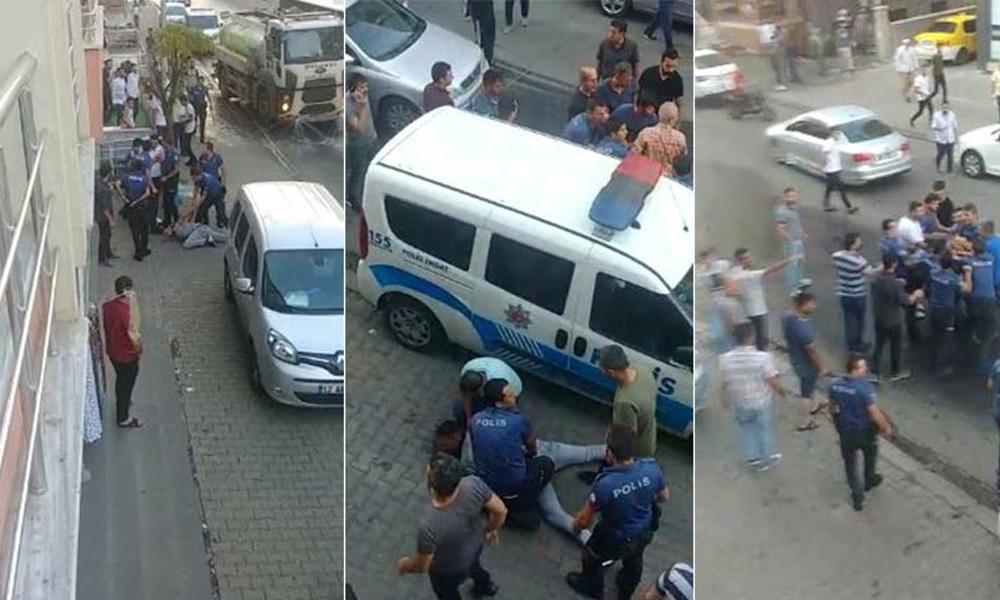 Bingöl'de polis şiddeti kamerada: Çevredekilerin tepkisine rağmen devam etti