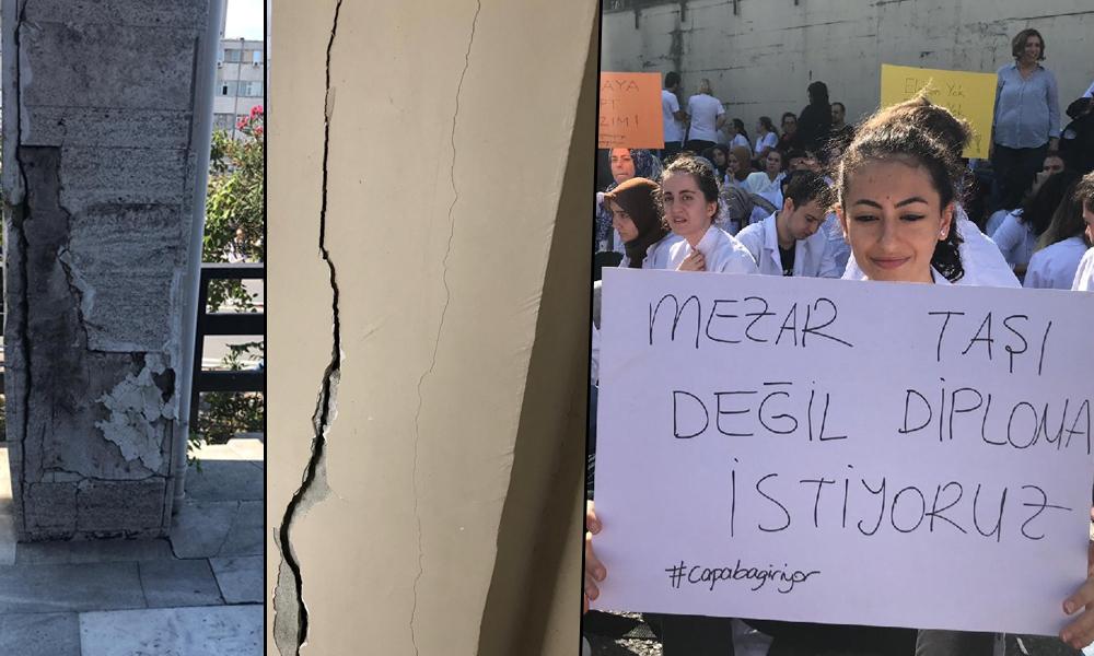 Endişelendiren görüntü… Öğrenciler yetkilileri göreve çağırdı!