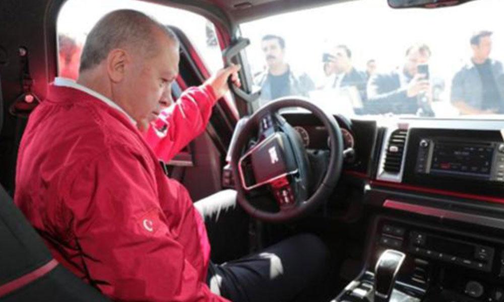 Erdoğan'ın kullandığı aracın direksiyonu şoke etti! Direksiyon dönüyor araba dönmüyor
