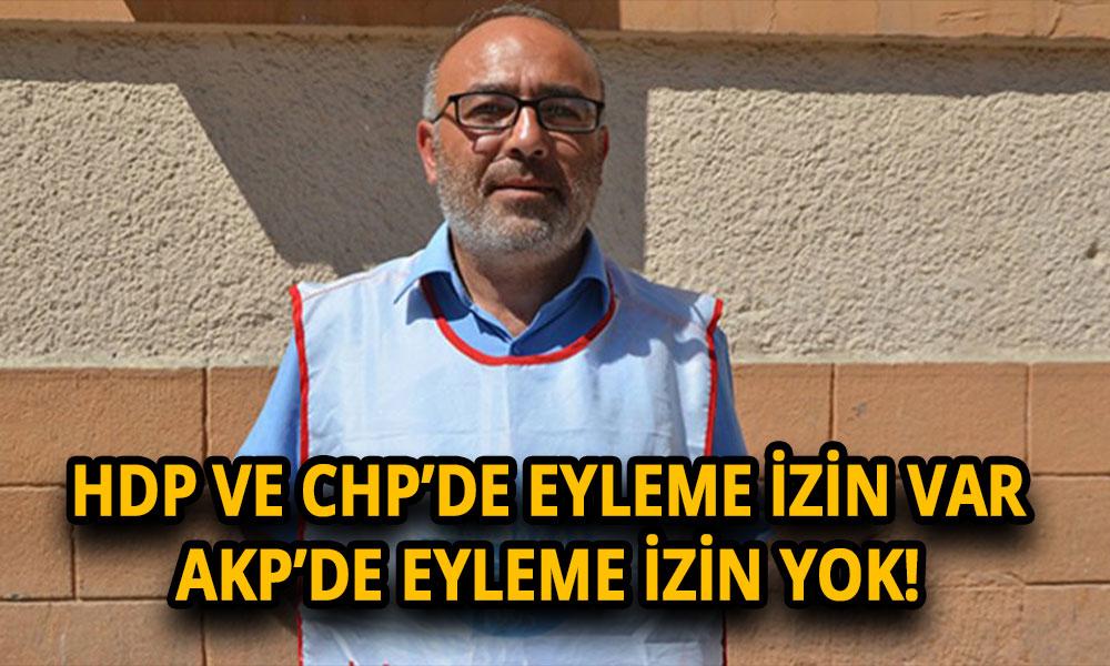 KHK ile işsiz bırakılan memur AKP önünde eylem yapmak istedi, Polis gözaltına aldı…