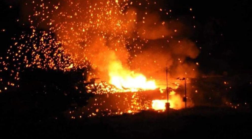 Girne'de askeri alanda art arda patlamalar
