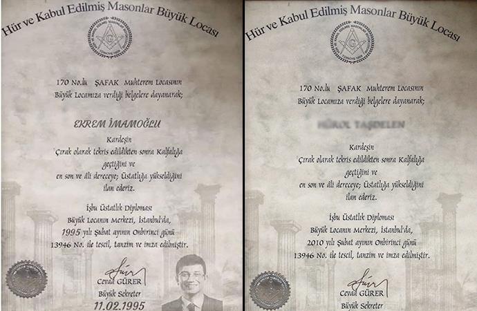 İmamoğlu için üretilen sahte Mason diplomasının sahibi ortaya çıktı!