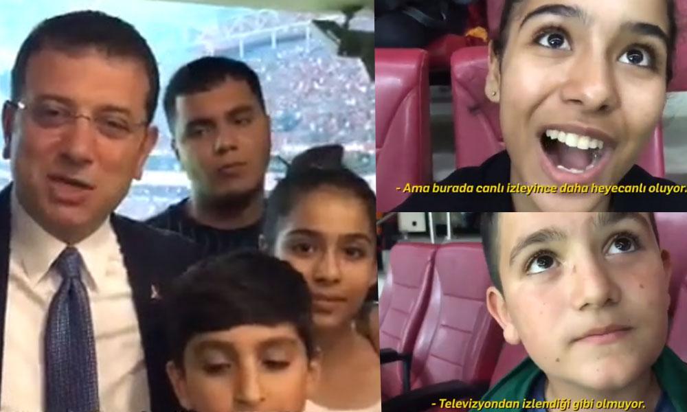 İmamoğlu, stadyuma gidemeyen çocuklar için loca tahsis etti… İşte çocukların heyecan dolu anları