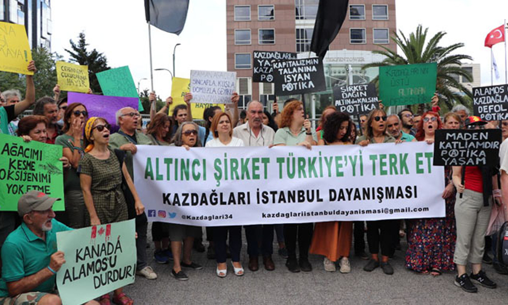 Kaz Dağları İstanbul Dayanışması, Kanada Konsolosluğu önündeydi: Altıncı şirket Türkiye'yi terk et!