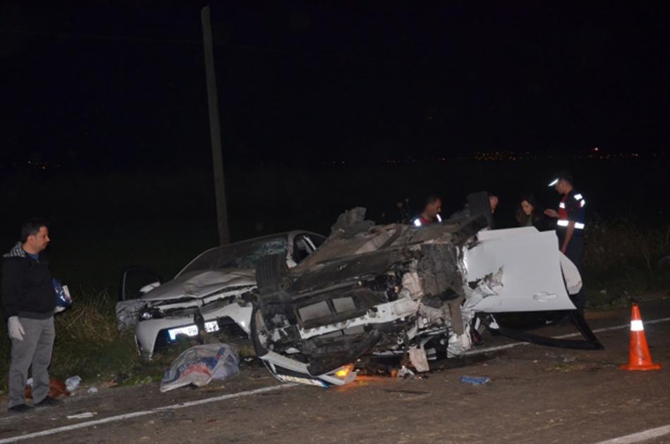 Biçerdöver ile 3 otomobil çarpıştı: 2 ölü, 5 yaralı