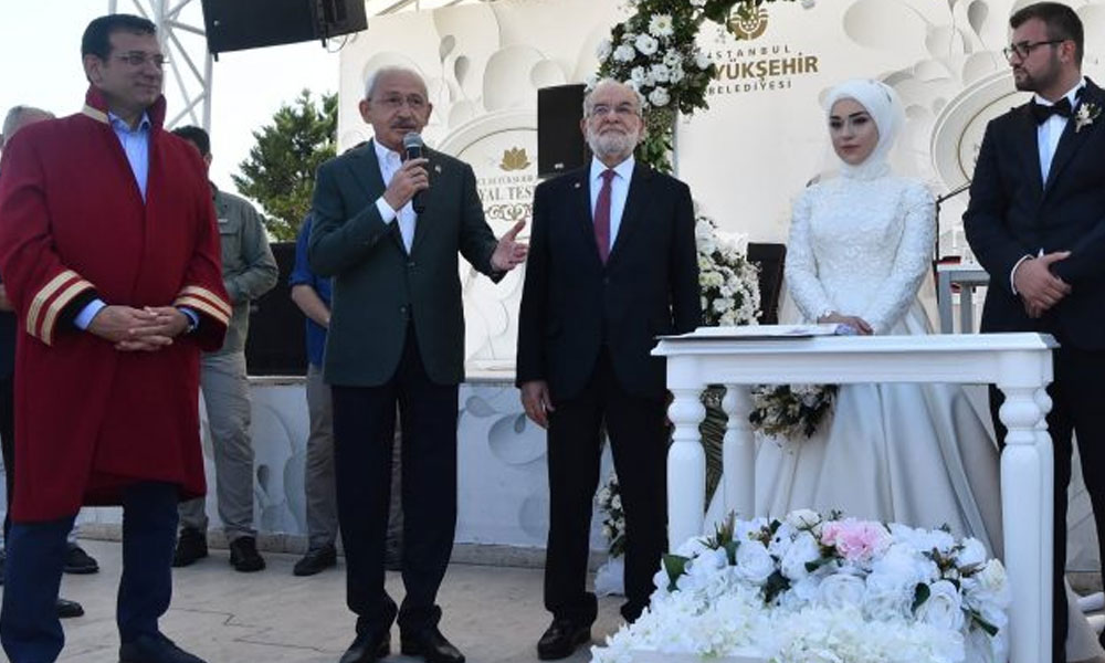 Kılıçdaroğlu ve Karamollaoğlu CHP'li Bekaroğlu'nun kızının nikah şahitliğini yaptı