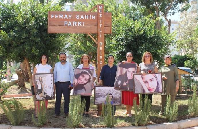 Polisin katlettiği Feray Şahin, ölümünün 2'nci yılında Mersin'de anıldı