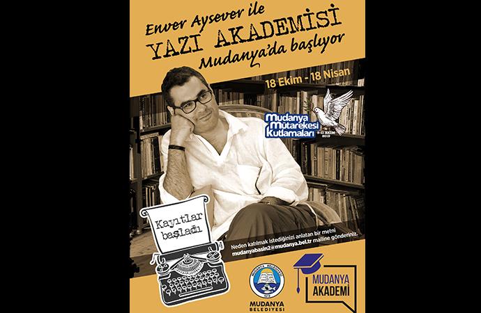 Enver Aysever ile 'Yazı Akademisi' Mudanya'da başlıyor