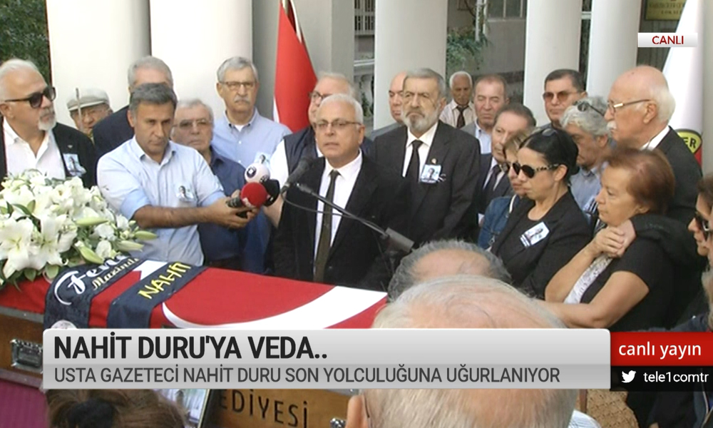 Nahit Duru'ya veda… Usta gazeteci son yolculuğuna uğurlandı