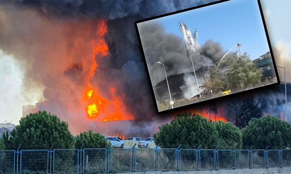 Tuzla'daki yangında patlama! Yaralılar var… İşte patlama anı