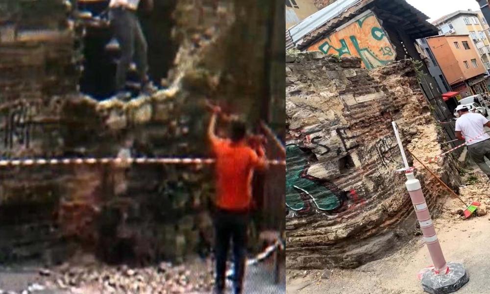 Restorasyon rezaleti! 450 yıllık tarihi çeşme Galata esnafının çöplüğüne döndü