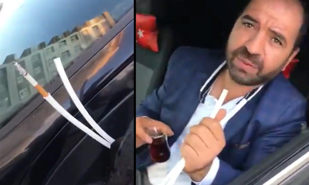 Araç içinde sigara yasağına sıradışı yöntem!
